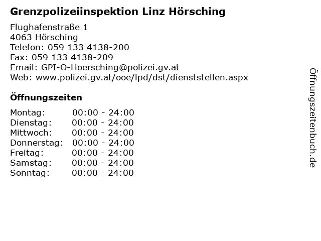 Grenzpolizeiinspektion Linz Hörsching in Hörsching: Adresse und Öffnungszeiten