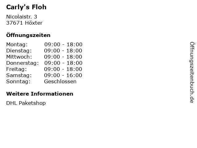 Carly's Floh in Höxter: Adresse und Öffnungszeiten