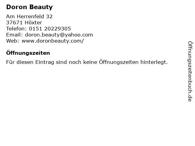 Doron Beauty in Höxter: Adresse und Öffnungszeiten