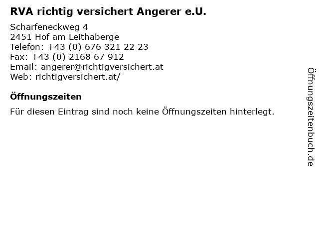 RVA richtig versichert Angerer e.U. in Hof am Leithaberge: Adresse und Öffnungszeiten