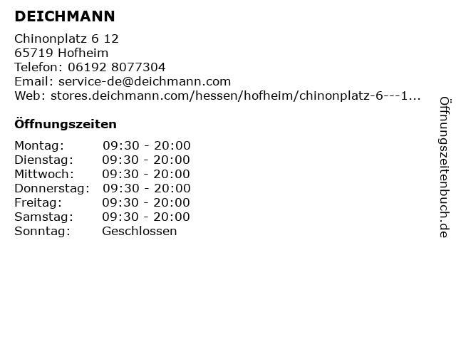DEICHMANN in Hofheim am Taunus: Adresse und Öffnungszeiten
