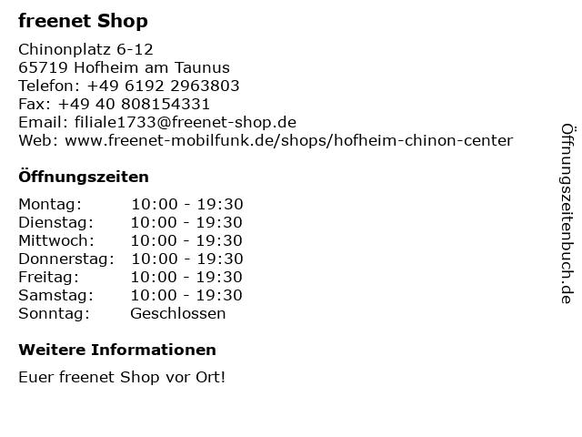 mobilcom-debitel in Hofheim am Taunus: Adresse und Öffnungszeiten