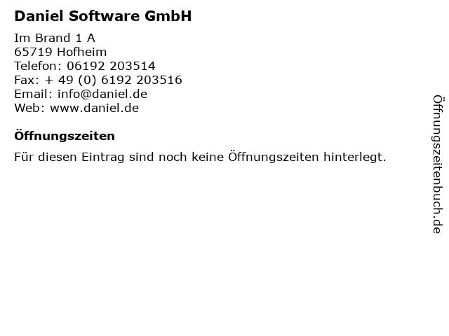 Daniel Software GmbH in Hofheim: Adresse und Öffnungszeiten