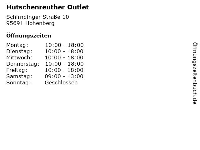 Hutschenreuther Outlet in Hohenberg: Adresse und Öffnungszeiten