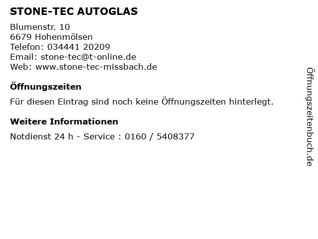 STONE-TEC AUTOGLAS in Hohenmölsen: Adresse und Öffnungszeiten
