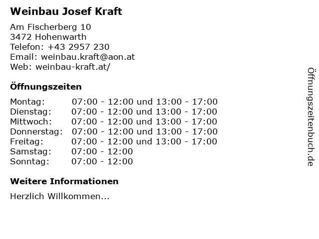 Weingut Hagenbüchl in Hohenwarth: Adresse und Öffnungszeiten