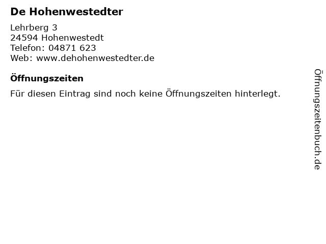 De Hohenwestedter in Hohenwestedt: Adresse und Öffnungszeiten