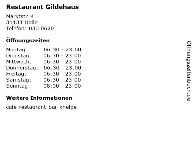 Restaurant Gildehaus in Holle: Adresse und Öffnungszeiten