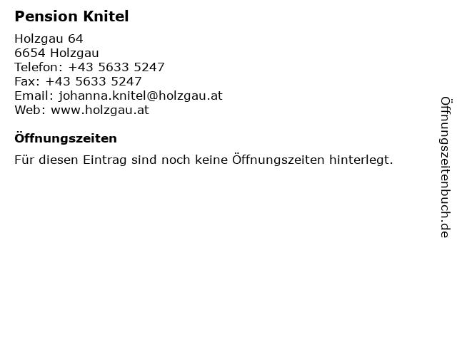 Pension Knitel in Holzgau: Adresse und Öffnungszeiten