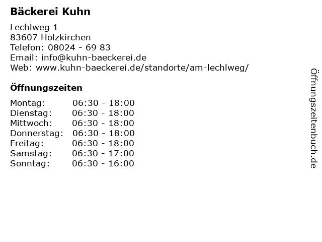 Bäckerei Kuhn in Holzkirchen: Adresse und Öffnungszeiten