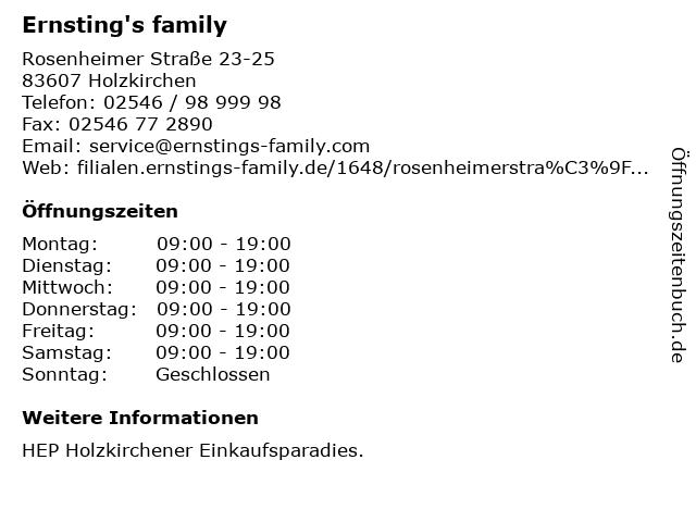 Ernsting's family GmbH & Co. KG in Holzkirchen: Adresse und Öffnungszeiten