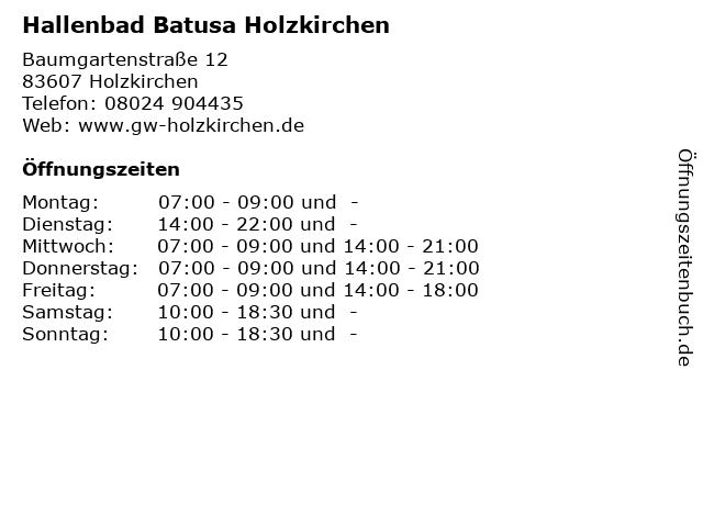 Hallenbad Batusa Holzkirchen in Holzkirchen: Adresse und Öffnungszeiten