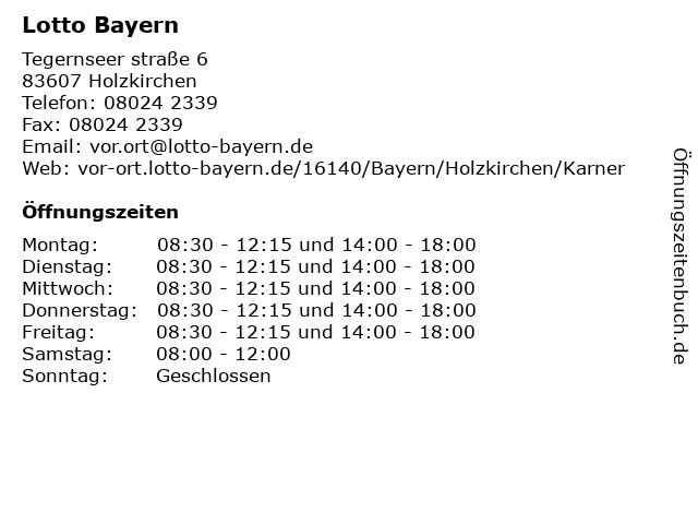 Lotto Bayern in Holzkirchen: Adresse und Öffnungszeiten