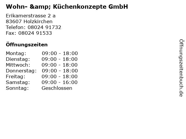 Wohn- & Küchenkonzepte GmbH in Holzkirchen: Adresse und Öffnungszeiten