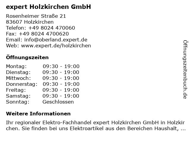 expert Holzkirchen in Holzkirchen: Adresse und Öffnungszeiten