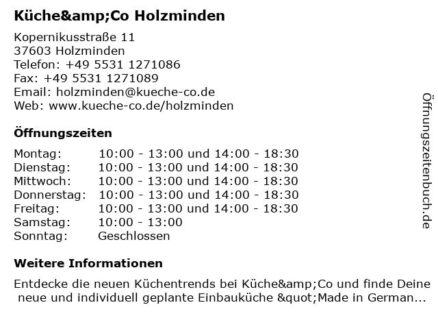 Küche&Co Holzminden in Holzminden: Adresse und Öffnungszeiten