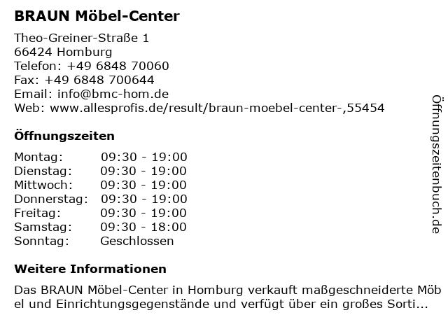 ᐅ Offnungszeiten Braun Mobel Center Theo Greiner Strasse 1 In