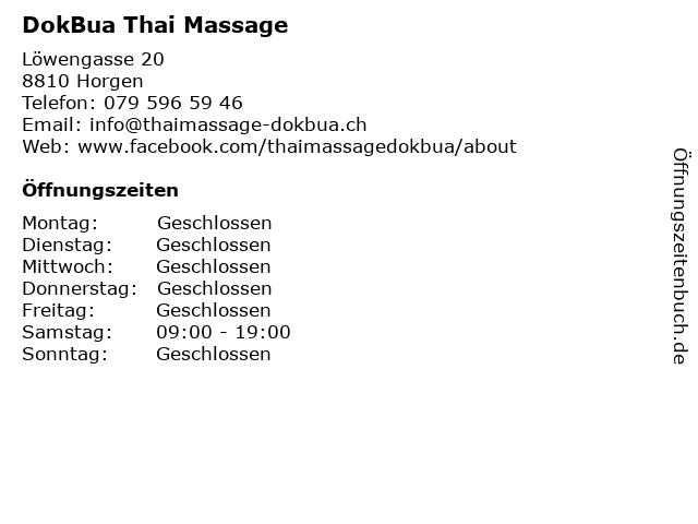 DokBua Thai Massage in Horgen: Adresse und Öffnungszeiten