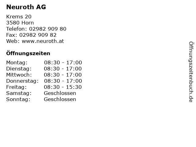 Neuroth AG in Horn: Adresse und Öffnungszeiten