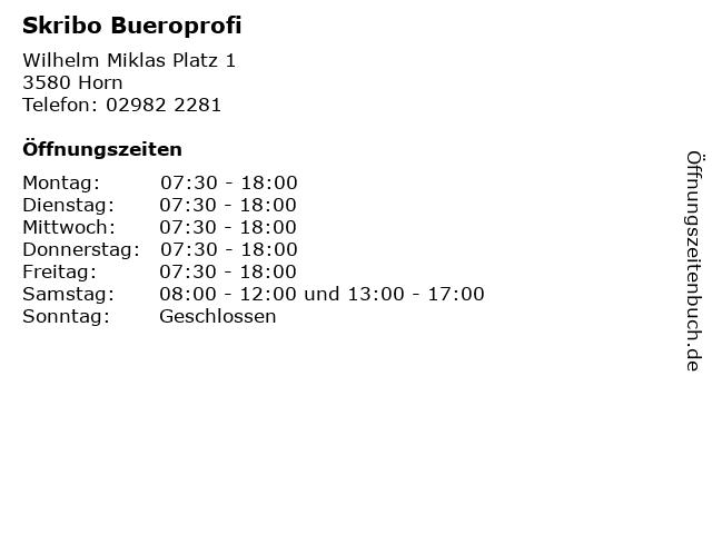 Skribo Bueroprofi in Horn: Adresse und Öffnungszeiten