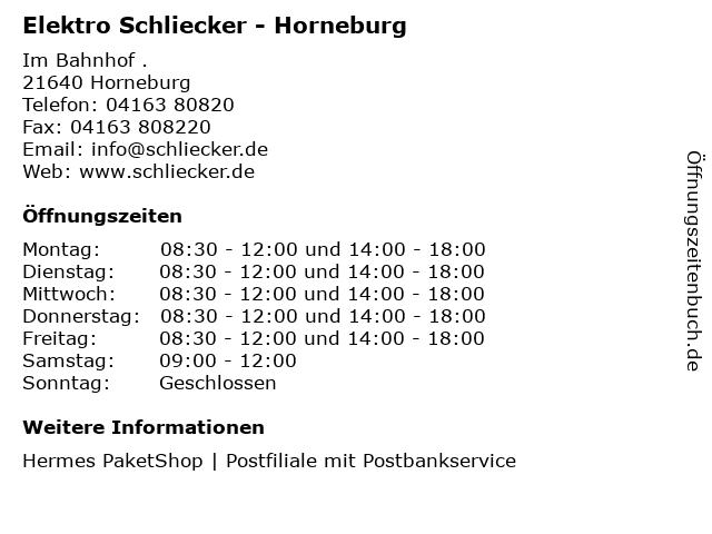 Elektro Schliecker - Horneburg in Horneburg: Adresse und Öffnungszeiten