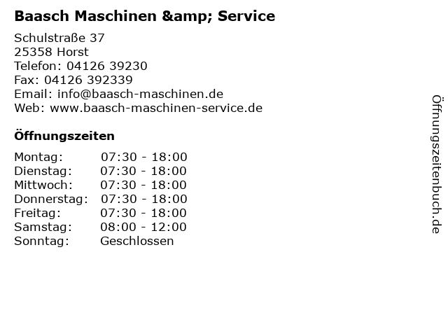 Rolf Baasch Maschinen & Service in Horst: Adresse und Öffnungszeiten