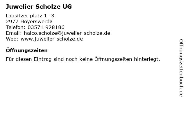 Juwelier Scholze UG in Hoyerswerda: Adresse und Öffnungszeiten