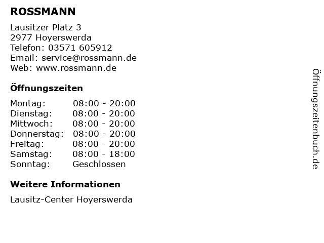 ROSSMANN in Hoyerswerda: Adresse und Öffnungszeiten
