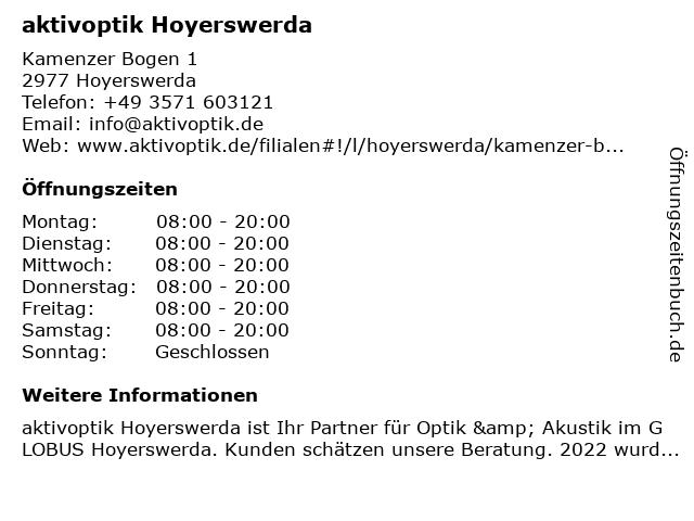 aktivoptik in Hoyerswerda: Adresse und Öffnungszeiten