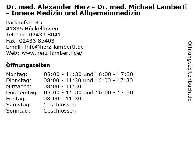 ᐅ Offnungszeiten Dr Med Alexander Herz Dr Med Michael