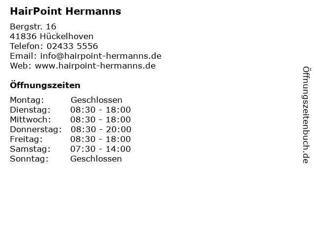 HairPoint Hermanns in Hückelhoven: Adresse und Öffnungszeiten