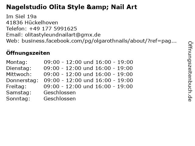 Nagelstudio Olita Style & Nail Art in Hückelhoven: Adresse und Öffnungszeiten