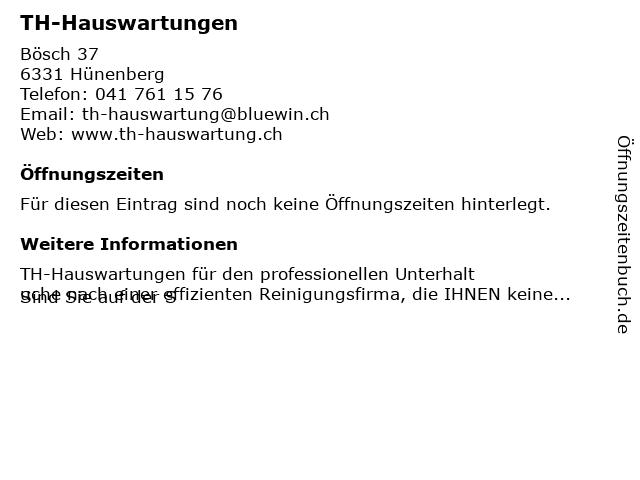 TH-Hauswartungen in Hünenberg: Adresse und Öffnungszeiten