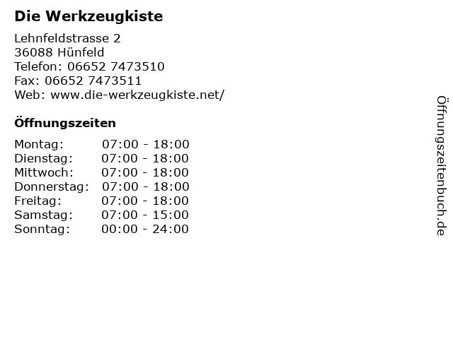 Die Werkzeugkiste in Hünfeld: Adresse und Öffnungszeiten