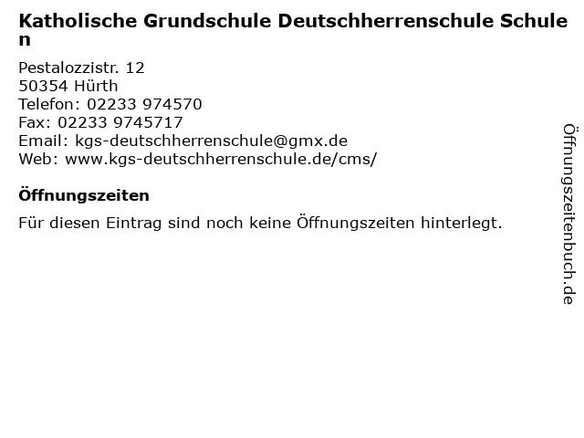 Katholische Grundschule Deutschherrenschule Schulen in Hürth: Adresse und Öffnungszeiten