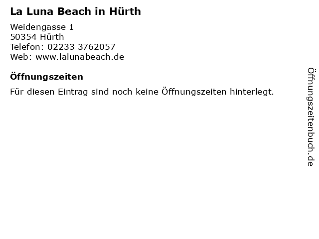 La Luna Beach in Hürth in Hürth: Adresse und Öffnungszeiten