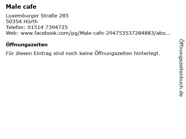 Male cafe in Hürth: Adresse und Öffnungszeiten