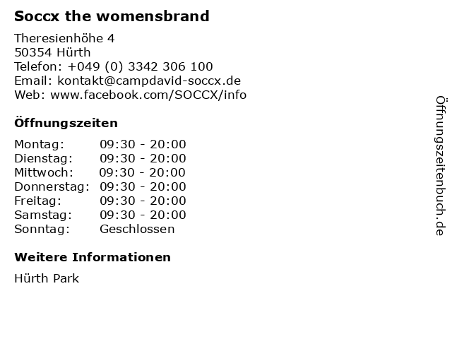 "hot new products wide range cheap prices ᐅ Öffnungszeiten ""Soccx the womensbrand"" | Theresienhöhe 4 ..."