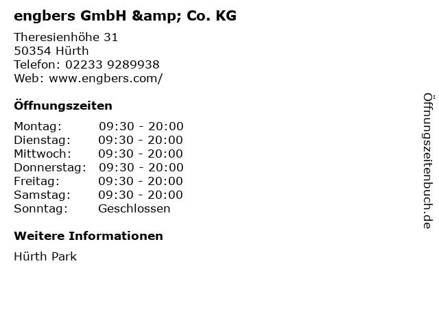 engbers GmbH & Co. KG in Hürth: Adresse und Öffnungszeiten