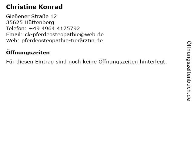 Christine Konrad in Hüttenberg: Adresse und Öffnungszeiten