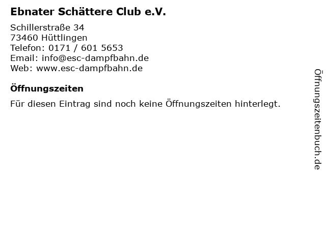 Ebnater Schättere Club e.V. in Hüttlingen: Adresse und Öffnungszeiten