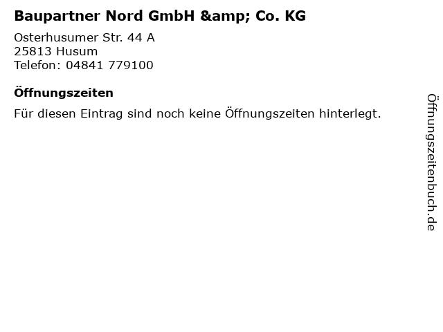 Baupartner Nord GmbH & Co. KG in Husum: Adresse und Öffnungszeiten