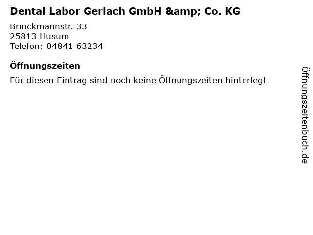 Dental Labor Gerlach GmbH & Co. KG in Husum: Adresse und Öffnungszeiten