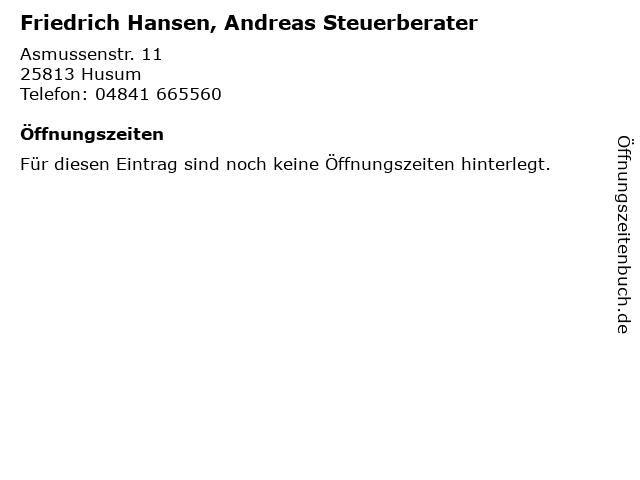 Friedrich Hansen, Andreas Steuerberater in Husum: Adresse und Öffnungszeiten