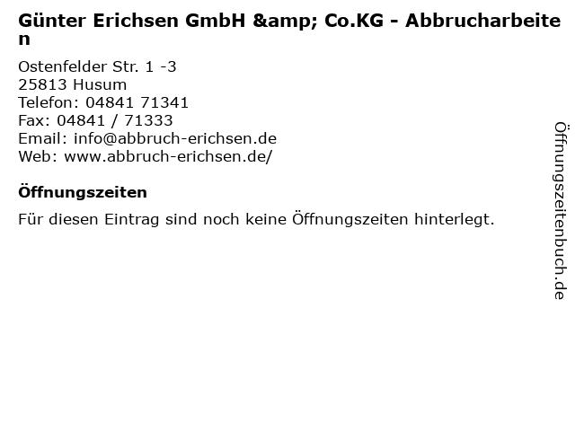 Günter Erichsen Erichsen GmbH & Co.KG Abbrucharbeiten in Husum: Adresse und Öffnungszeiten