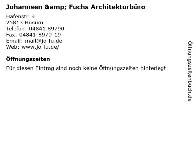 Johannsen & Fuchs Architekturbüro in Husum: Adresse und Öffnungszeiten