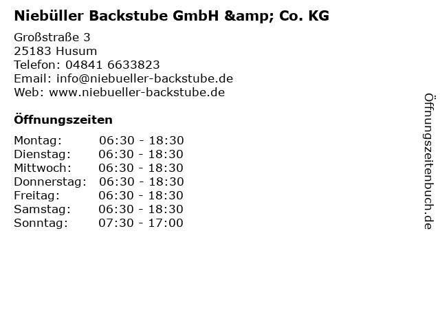 Niebüller Backstube GmbH & Co. KG in Husum: Adresse und Öffnungszeiten