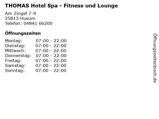 THOMAS Hotel Spa - Fitness und Lounge in Husum: Adresse und Öffnungszeiten