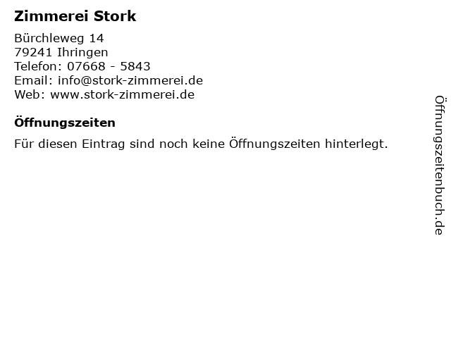 Zimmerei Stork in Ihringen: Adresse und Öffnungszeiten