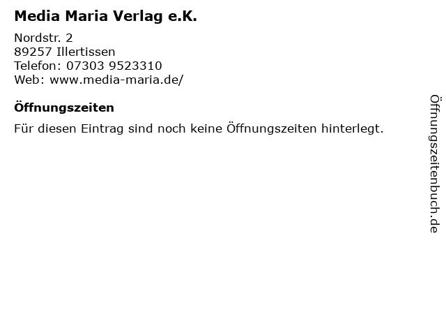 Media Maria Verlag e.K. in Illertissen: Adresse und Öffnungszeiten